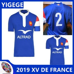 4a793a60711 FRANCE 2018 19 HOME RUGBY SHIRT SWEAT PRESENTATION XV DE FRANCE new French  Rugby jerseys T-shirt European Size: S-3XL (can print)