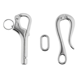 stainless steel boat hooks Australia - Set of 2 4in Type316 Stainless Steel Pelican Hook Fit for Marine Boat Guard Rail- Boating Accessories
