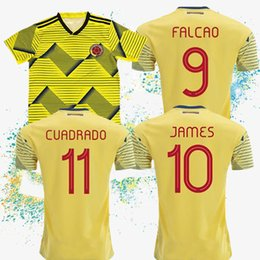 AmericA jerseys sAle online shopping - Colombia soccer jersey copa america colombia football shirt JAMES Home yellow Soccer shirt Special sales