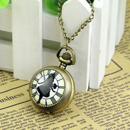 $enCountryForm.capitalKeyWord Australia - Steampunk Necklace Chain Quartz Pendant Bronze Tone Girls Pocket Watch Gift Hot
