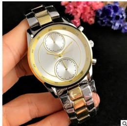 $enCountryForm.capitalKeyWord Australia - Fashion casual Two eyes Clock dial Men women luxury Quartz Watches stainless steel Watches wholesale M6128