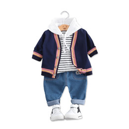 92477f033335 2019 Spring Autumn Baby Boys Girl Clothing Infant Clothes Suits T Shirt  Coats Pants 3Pcs Sets Kid Children Leisure sport Costume