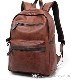 $enCountryForm.capitalKeyWord Australia - Factory sales brand new Europe college mens bag style casual brand backpack lightweight comfort student Leather Backpack