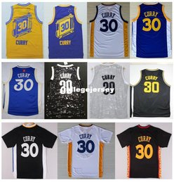 $enCountryForm.capitalKeyWord Australia - Cheap New #30 S SC Jersey 2016 Best Quality Stitched Blue White Black New Material Embroidery Basketball Jerseys Ncaa