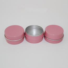 $enCountryForm.capitalKeyWord Australia - 10ml 30ml 50ml 60ml Empty Pink Aluminum Jar Case Cosmetic Eyebrow Eyeliner Cream Gel Mascara Container Storage Soap Tins 100pcs