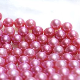 Loose Pearls Mix Australia - JNMM 20Pcs Lot 6-8mm Round High Quality Violet Loose Freshwater Pearl Beads undrilled Mixed Colors for Women Jewelry Making Gift DIY