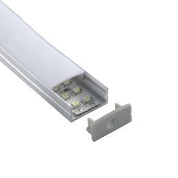 led flat tube lights UK - 300 X 2M sets lot Flat led strip profile aluminium 24 mm wide square type aluminum led housing extrusion for wall recessed lighting
