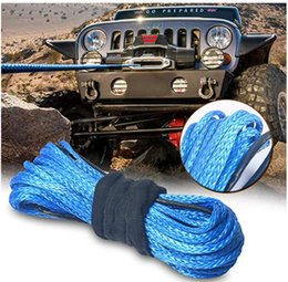 atv synthetic winch rope Australia - Free shipping 5MMx50M Blue Synthetic Winch Rope String Line off-road UHMWPE Cable Towing Rope With Sleeve for ATV UTV SUV