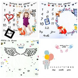 new boy photo style 2019 - New Style Day Month Year Photo Blanket Child Fashion Milestone Blankets Cartoon Wing Crown Shooting For Girl And Boy 18p