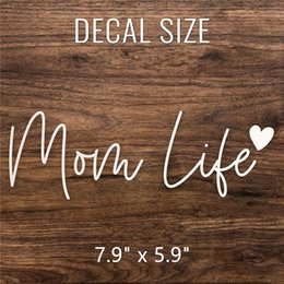 Truck decals sTickers online shopping - 600pcs Mom Life Decal Vinyl Sticker Cars Trucks Vans Walls Laptop inch