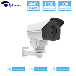 ptz ip camera sd card UK - 4MP HD 4.0MP Outdoor POE Bullet IP Camera 10X Optical Zoom PTZ CCTV Security Surveillance Camera Pan Tilt ONVIF SD Card Slot