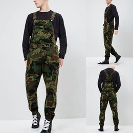 $enCountryForm.capitalKeyWord Australia - Mens Camouflage Jeans Washable Overall Jumpsuit Streetwear Pocket Suspender Jeans Trousers Fashion Hip Hop Bib 7.15