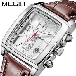 $enCountryForm.capitalKeyWord Australia - Megir Original Watch Top Brand Luxury Quartz Military Watches Leather Wristwatch Men Clock Relogio Masculino Erkek Kol Saati MX190725