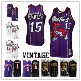 76b95ccab 2018-2019 Toronto Men s Raptors jersey Swingman Basketball Jersey 1 Tracy  McGrady 15 Vince Carter