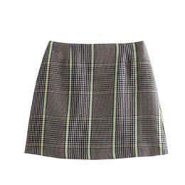 $enCountryForm.capitalKeyWord Australia - New Women Vintage Casual Plaid Blazer 2 Piece Set 2019 Spring Long Sleeve Skirt Suit Blazers Coat Mini Office Outfits