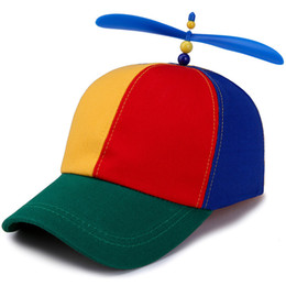 funny baseball Australia - 2019 New boys and girls hat Children's baseball hats Summer outdoor sunshade cap Colorful stitching windmill funny