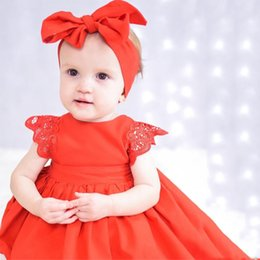 Wholesale Kids Dresses For Girls Fashion Toddler Baby Girl Lace Ruffles Princess Romper Dress Tutu Jumpsuit New Sunsuit Baby Clothing