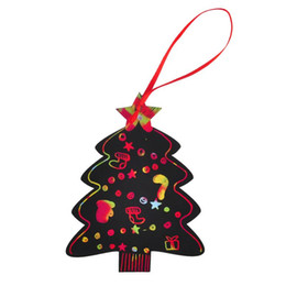 scratch drawing paper Australia - Hot 7Pcs Christmas Series Magic Scratch Card Xmas Tree Hanging Ornaments Set Paper Cards Scraping Drawing Toy Children