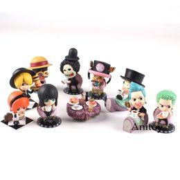 $enCountryForm.capitalKeyWord NZ - One Piece Figure One Piece Anime Luffy Zoro Sanji Nami Franky Chopper Brook Robin Action Figure Toy 10pcs set 4.5~6cm