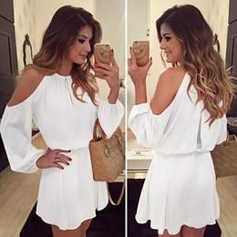 $enCountryForm.capitalKeyWord Australia - White New Chiffon Dress Summer Women Sexy Fashion Strapless Strap Long Sleeve Casual Solid Color Evening Party Club Steetwear Trends Dresses