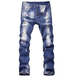 $enCountryForm.capitalKeyWord UK - 2019 New 9Men's Jeans Washed and Grinded White Men's Trousers Middle Waist Trend Men's Trousers