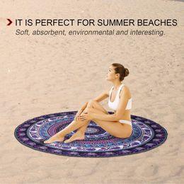 $enCountryForm.capitalKeyWord Australia - Round Shape Women Yoga Mat microfiber Beach Towel Digital Printed Polyester Blanket Table Summer Beach Towel 148*148cm