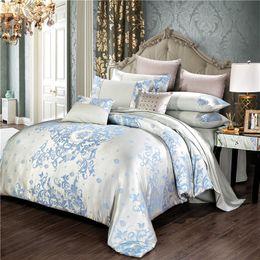 $enCountryForm.capitalKeyWord Australia - Bedding set luxury Silk Satin Jacquard Duvet Cover wedding decoration Bed Linen Quilt Cover bed sheet comforter bedding sets