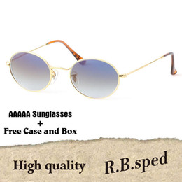 abfd5a098fe AAAAA Retro Oval Sunglasses men women Luxury Brand Alloy frame uv400 lens Celebrity  Eyewear Vintage sun Glasses with cases and box