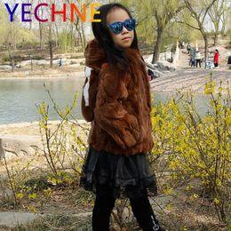 $enCountryForm.capitalKeyWord Australia - Kids Girls Real Rex Rabbit Fur Coat Winter Children Genuine Fur Outerwear Jacket Warm Baby Fur Coat Clothing