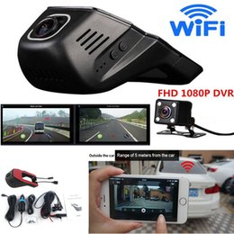 Video Camera Full Hd Lens NZ - Full HD 1080P Wifi Car SUV DVR Invisible Video Recorder Dual Lenses Camera G-Sensor Motion Sensor Automobile Data Recorder