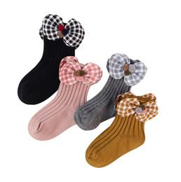$enCountryForm.capitalKeyWord UK - Kids socks girls stereo lace pompon plaid Bows princess socks children vertical knitted short socks spring kids cotton breathable sock F7465