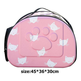 $enCountryForm.capitalKeyWord Australia - EVA Breathable Pet Carrier Bag Fashion Portable Cats Handbag Outdoor Foldable Travel Pet Cat Puppy Dog Carrying Bag