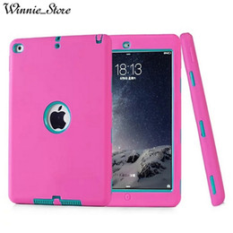 apple ipad tablet skins Australia - Fashion New Armor Case For Apple iPad air 2 air Kids Safe Heavy Duty Silicone Hard Cover For iPad 5 6 Tablet Case+Gifts