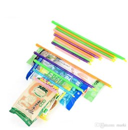 Food storage bag sealing clips online shopping - Marki pc New Arrival Magic Bag Sealer Stick Unique Sealing Rods Great Helper For Food Storage Sealing cllip sealing clamp clip wn510A