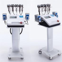 Großhandel 2019 neueste 6 in 1 Lipo Laser + Kavitation + RF + Vakuum / RF 40K Kavitation Vakuum Lipolaser Abnehmen Körpergewichtsverlust Maschine