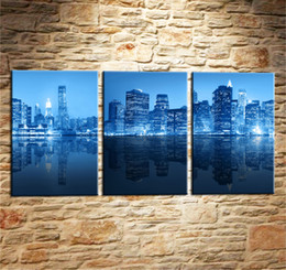 $enCountryForm.capitalKeyWord Australia - New York City Blue -1,3 Pieces Canvas Prints Wall Art Oil Painting Home Decor (Unframed Framed) .