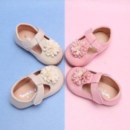 kids party shoes size NZ - Baby Girl Flower Casual Shoes Toddler Kids Party Anti-slip T-Strap Flat Shoes Baby Spring Summer New Enfants Size 15-25