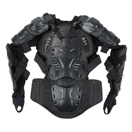 Motorcycle Jacket Armor Protector Australia - Liplasting Full Motorcycle Body Armor Shirt Jacket Motocross Back Shoulder Protector Gear M-XXXL Black Veste de moto