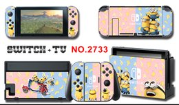 purple minions Australia - Vinyl Screen Skin Minion s Protector Stickers for Nintendo Switch NS Console + Controller + Stand Holder Skins
