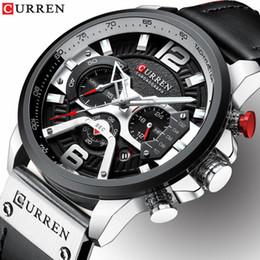 Curren Men Sports Leather Watches Australia - Relogio Masculino Mens Watches Top Brand Luxury Men Military Sport Wristwatch Leather Quartz Watch Erkek Saat Curren 8329 Y19052103