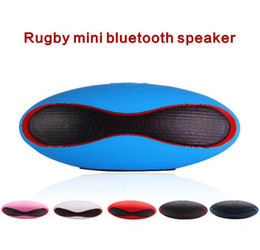 cheap bluetooth speakers Australia - Cheap Mini Football Rugby Portable Speaker Wireless Bluetooth Speakers with Mic subwoofer stereo sound surport tf card