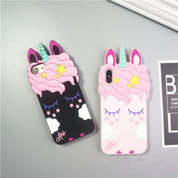 cases for iphone 5s 3d Australia - Kawaii 3d Cartoon Soft Silicone Phone Cases For Iphone 7 6 6s 8 Plus 5 5s Cute Unicorn Pattern Back Cover For Iphone X