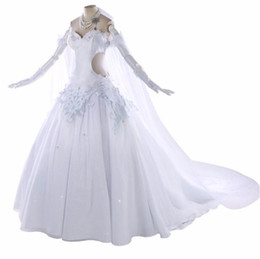 Discount hot dress japanese - 2019 Japanese Anime Hot Game Fate Fgo Altria Pendragon Saber Cosplay Costume Gorgeous Wedding Dress