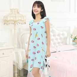 Ladies cotton nightdresses online shopping - YF164 new summer nightdress ladies cotton silk cute girl Korean home service
