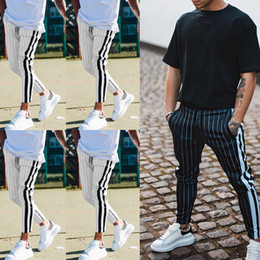 Wholesale black lower pant for sale – dress Man s Sport Pants Long Trousers Tracksuit Fitness Workout Joggers Gym Sweatpants