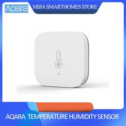 Original Xiaomi AQara Smart-Temperatur-Feuchtigkeits-Sensor, ZigBee Wifi drahtlose Arbeit mit xiaomi Smart Home mijia Mi Haus App im Angebot