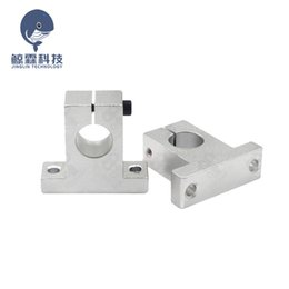 aluminum router Canada - Cheap 3D Printer Parts & Accessories 1pcs racket Linear Rail Shaft Support 8 10 SK12 SK16 Aluminum Block Parts Sliding Router Bracket