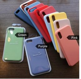 0ee5eb9a2a New arrival Official Liquid Silicone Phone Case for iphone X XS MAX XR 7 8  6 6S Plus Soft Gel Rubber Shockproof Cover Full Protective Case