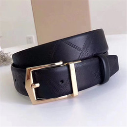 $enCountryForm.capitalKeyWord Australia - New Luxury Jeans Belts Designer Casual Belt with Box Needle Buckle Women Fashion Girdle Men Embossed Genuine Leather Waist Belts Width 3.5cm