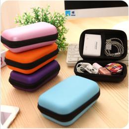 $enCountryForm.capitalKeyWord Australia - Cosmetic Bags Hard Nylon Carry Bag 6 Colors Compartments Case Cover Headphone Earphone Jewelry Bag